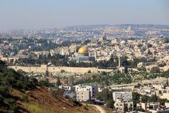 Jerusalen cityscape Fotografering för Bildbyråer