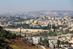 Jerusalen pejzaż miejski Obraz Stock