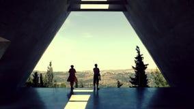 JERUSALÉN, ISRAEL - 22 DE MAYO DE 2013: Efecto retro del filtro de la foto - Yad Vashem, el centro de la conmemoración del holoca Imagenes de archivo