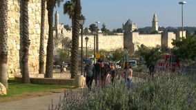 Jeruslaem old city stock video footage