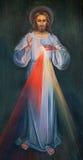 Jeruzalem - de moderne verf van Jesus in Armeense Kerk van Onze Dame Of The Spasm door onbekende kunstenaar Royalty-vrije Stock Foto's