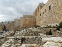 Jeruzalem: De Tempel zet vanuit de tijd van de Tweede Tempel op Royalty-vrije Stock Afbeeldingen