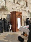 Jeruzalem, Israël: De Westelijke Muur, Loeiende Muur of Kotel Stock Foto