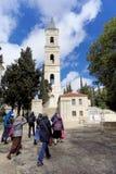 Jeruzalem, Israël - 15 februari 2017 Verlosser van het Beklimmingsklooster van de Russische Orthodoxe Kerk in Jeruzalem E Stock Foto