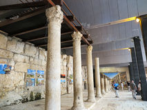 JERUZALEM, ISRAËL - JULI 13, 2015: Cardo Maximus, Roman Pillars Royalty-vrije Stock Foto