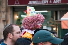 Jeruzalem, Israël - Purim Carnaval. Stock Foto's
