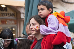Jeruzalem, Israël - Purim Carnaval Royalty-vrije Stock Foto's