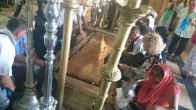 JERUZALEM, ISRA?L - 31 08 2015: Kerk van het Heilige Grafgewelf in de Oude Stad van Jeruzalem, Isra?l stock afbeelding