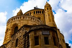 Jeruzalem - Kerk van het Heilige Grafgewelf stock afbeeldingen