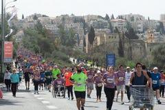 2018 Jeruzalem Marthon stock afbeeldingen