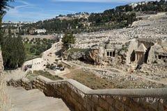 Jeruzalem, Onderstel van Olijvenbegraafplaats Royalty-vrije Stock Fotografie