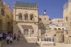 Jeruzalem - Straatscène in oude stad van Jeruzalem Stock Afbeeldingen