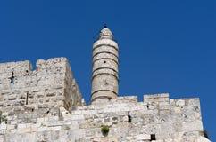 Jeruzalem, toren van David Stock Afbeelding