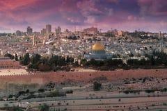 Jeruzalem van Licht en Geloof Stock Foto