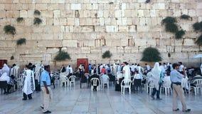 Jeruzalem - Westelijke of Loeiende Muur of Kotel Stock Afbeeldingen
