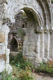 Jervaulx Abbey ruins framed in an arch Royalty Free Stock Photos