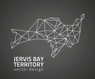 Jervis κόλπων εδαφών μαύρος χάρτης περιλήψεων μωσαϊκών τριγώνων διανυσματικός απεικόνιση αποθεμάτων