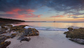 Jervis Bay på skymning Royaltyfria Bilder