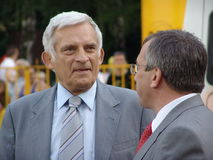 Jerzy Buzek - président du Parlement européen. Photographie stock libre de droits