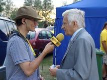 Jerzy Buzek - président du Parlement européen Image libre de droits