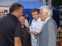 Jerzy Buzek - président du Parlement européen Images stock