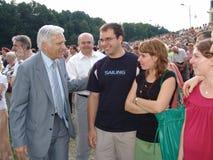 Jerzy Buzek - président du Parlement européen Photo stock