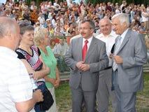 Jerzy Buzek - président du Parlement européen Photos libres de droits