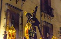Jesús del Gran Poder, na procissão da Semana Santa no Madri, Foto de Stock Royalty Free