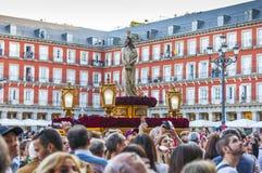 Jesús el cautivo w korowodzie Święty tydzień w Madryt, Apr Zdjęcie Stock