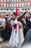 Jesús el cautivo w korowodzie Święty tydzień w Madryt, Apr Obrazy Stock