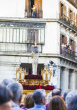 Jesús el cautivo w korowodzie Święty tydzień w Madryt, Kwiecień 13th, 2017 Obrazy Royalty Free