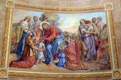 Jesús, amigo de pequeños niños Fotos de archivo