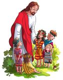 Jesús con los niños Fotos de archivo libres de regalías