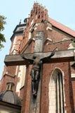 Jesús en cruz en Cracovia fotografía de archivo