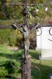 Jesús en la cruz Fotografía de archivo libre de regalías