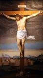 Jesús en la cruz Fotos de archivo