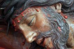 Jesús en la cruz Foto de archivo