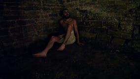 Jesús en la prisión almacen de video