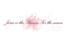 Jesús es la razón de la estación Imágenes de archivo libres de regalías