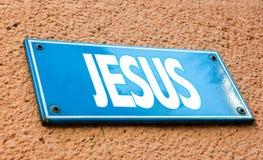 Jesús firma adentro una imagen conceptual Fotos de archivo libres de regalías