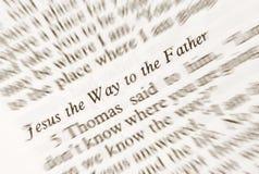 Jesús la manera al Fahter Foto de archivo libre de regalías