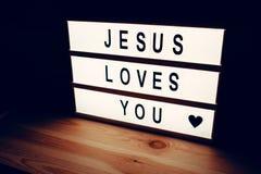Jesús le quiere Imagenes de archivo