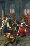 Jesús perdona adulterio Foto de archivo