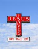 Jesús salva Foto de archivo libre de regalías