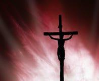 Jesús en la cruz fotos de archivo libres de regalías