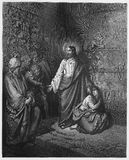 Jesús y el adulterio admitido mujer libre illustration