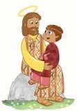 Jesús y niño Imagenes de archivo