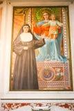 Jesús y Virgen Mary Painting, Vaticano Fotografía de archivo
