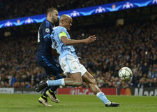 Jese and Vincent Kompany Stock Images