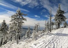 JesenÃky de winterbergen Royalty-vrije Stock Afbeelding